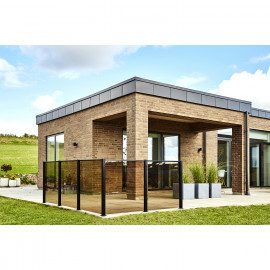 Smart Fence - Glas røgfarvet 6 mm - modul 95