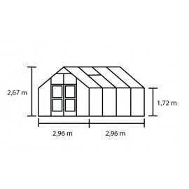 Premium 8,8 m² antracitgrå m/ 10 mm poly