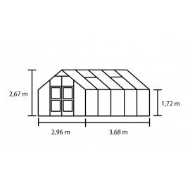 Premium 10,9 m² antracitgrå m/ 10 mm poly