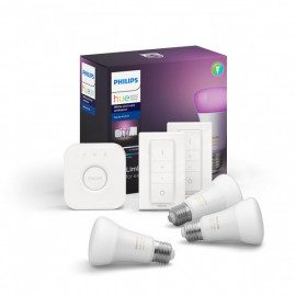 KAMPAGNE Philips Hue White & Colour 4 pærer, bridge & 2 dimswitch