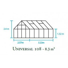 Universal 108 m/6 mm poly