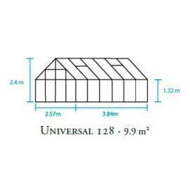 Universal 128 m/6 mm poly