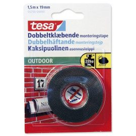 Tesa Dobbeltklæbende Tape - Outdoor 1,5mx19mm