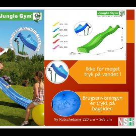 Rutschebane Jungle Gym Rød 2,20 m.