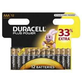 Duracell Plus Power AAA - 12pk. - Batteri