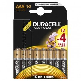 Duracell Plus Power AAA -16pk. PP - Batteri