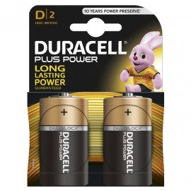 Duracell Plus Power D - 2pk. - Batteri