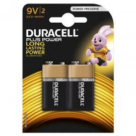 Duracell Plus Power 9V - 2pk. - Batteri