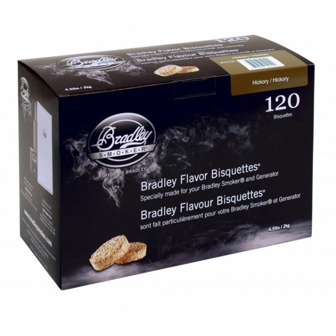 Bradley Hickory Bisquettes 120 stk.