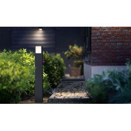 Philips Arbour Stander-/søjlelampe, anthracite 1x6w
