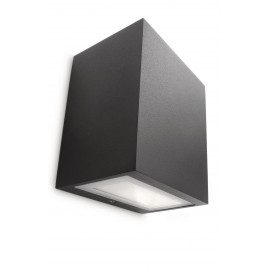 Philips Flagstone Væglampe LED, sort 1x7.5w