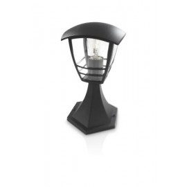 Philips Creek Stander-/søjlelampe, sort 1x60w H 30cm