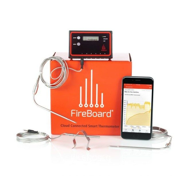 FireBoard FBX11 Extreme BBQ Kit - 2 ambient/6 mad probes/2 grill clips/lader
