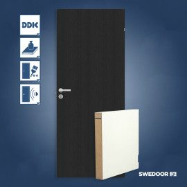 Swedoor Stable GW sort malet dør - Sort M9x21