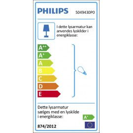 Philips MyLiving Box Spot LED 4 stk, Sort 4x4,5W