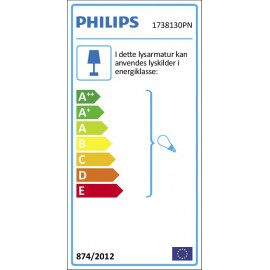 Philips MyGarden Cormorant væglampe, Sort 1x42W